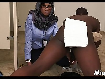 Horny arab honey endures pussy-hammering after taking shower